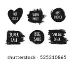 a set of stickers with the text ... | Shutterstock .eps vector #525210865