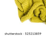 warm knitted sweater on white...   Shutterstock . vector #525213859