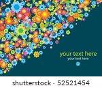 floral card over dark... | Shutterstock .eps vector #52521454