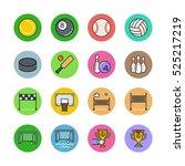 sport icons | Shutterstock .eps vector #525217219