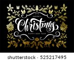 chic and luxury christmas... | Shutterstock .eps vector #525217495
