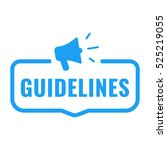 guidelines. badge with... | Shutterstock .eps vector #525219055