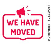 we have moved. badge with... | Shutterstock .eps vector #525219067