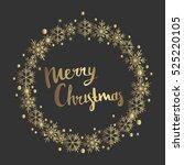 marry christmas. print design | Shutterstock .eps vector #525220105
