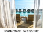 beautiful tropical maldives... | Shutterstock . vector #525220789