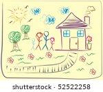 kid drawing | Shutterstock . vector #52522258