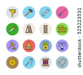 tools icons | Shutterstock .eps vector #525223531