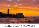 beautiful sunset sea landscape... | Shutterstock . vector #525224509
