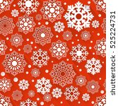 seamless red and white... | Shutterstock .eps vector #525224731