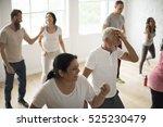diversity people exercise class ... | Shutterstock . vector #525230479