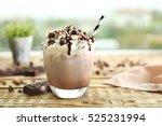delicious milk dessert with... | Shutterstock . vector #525231994