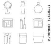 set of simple cosmetic line art ... | Shutterstock .eps vector #525236131
