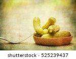 pickled green gherkins  | Shutterstock . vector #525239437