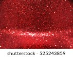 red bokeh abstract christmas... | Shutterstock . vector #525243859