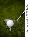 a white golf ball set up on the ... | Shutterstock . vector #52524604