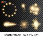 golden glitter bokeh lights and ... | Shutterstock .eps vector #525247624