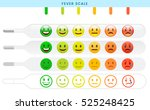 fever scale. four thermometers... | Shutterstock .eps vector #525248425