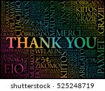 thank you word cloud concept... | Shutterstock .eps vector #525248719
