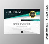 certificate template awards... | Shutterstock .eps vector #525256321