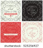 happy valentines day  holiday...   Shutterstock . vector #525256927