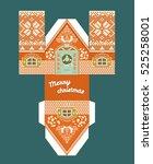 vector gingerbread house idea... | Shutterstock .eps vector #525258001