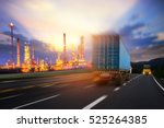 truck transport container on... | Shutterstock . vector #525264385