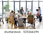 teamwork together professional... | Shutterstock . vector #525266194