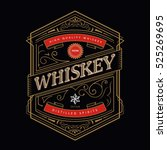 whiskey antique frame vintage... | Shutterstock .eps vector #525269695
