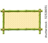 bamboo frame with woven... | Shutterstock .eps vector #52528051