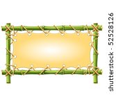 bamboo frame with canvas... | Shutterstock .eps vector #52528126