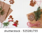 christmas composition. xmas... | Shutterstock . vector #525281755