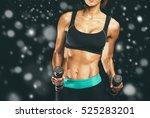 sport. woman sport body strong... | Shutterstock . vector #525283201