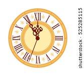 vintage elegance clock face.... | Shutterstock .eps vector #525285115