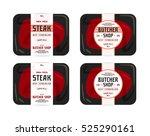 butchery and steak label.... | Shutterstock .eps vector #525290161
