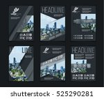 vector illustration set of art... | Shutterstock .eps vector #525290281