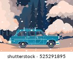 vector modern retro car.... | Shutterstock .eps vector #525291895