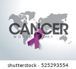 world cancer day concept.... | Shutterstock .eps vector #525293554