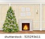 luxury interior wall with...   Shutterstock .eps vector #525293611