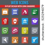 police web icons in flat design ... | Shutterstock .eps vector #525294079