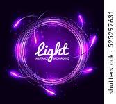 abstract purple light circles... | Shutterstock .eps vector #525297631