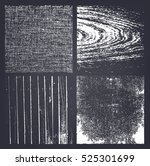 vector set of grunge textures.... | Shutterstock .eps vector #525301699