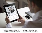 bussinessman at office holding...   Shutterstock . vector #525304651