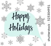 christmas calligraphy happy... | Shutterstock .eps vector #525304951