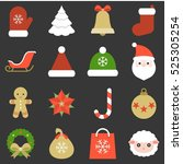 christmas icon  ornaments and...