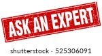 ask an expert. stamp. square... | Shutterstock .eps vector #525306091