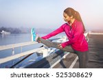 stretching before the exercise | Shutterstock . vector #525308629