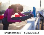 stretching before the exercise | Shutterstock . vector #525308815