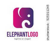 Animal Elephant Logo Icon...