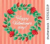 happy valentines day  vector ... | Shutterstock .eps vector #525313219