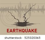 the soil cracks effect of... | Shutterstock .eps vector #525320365